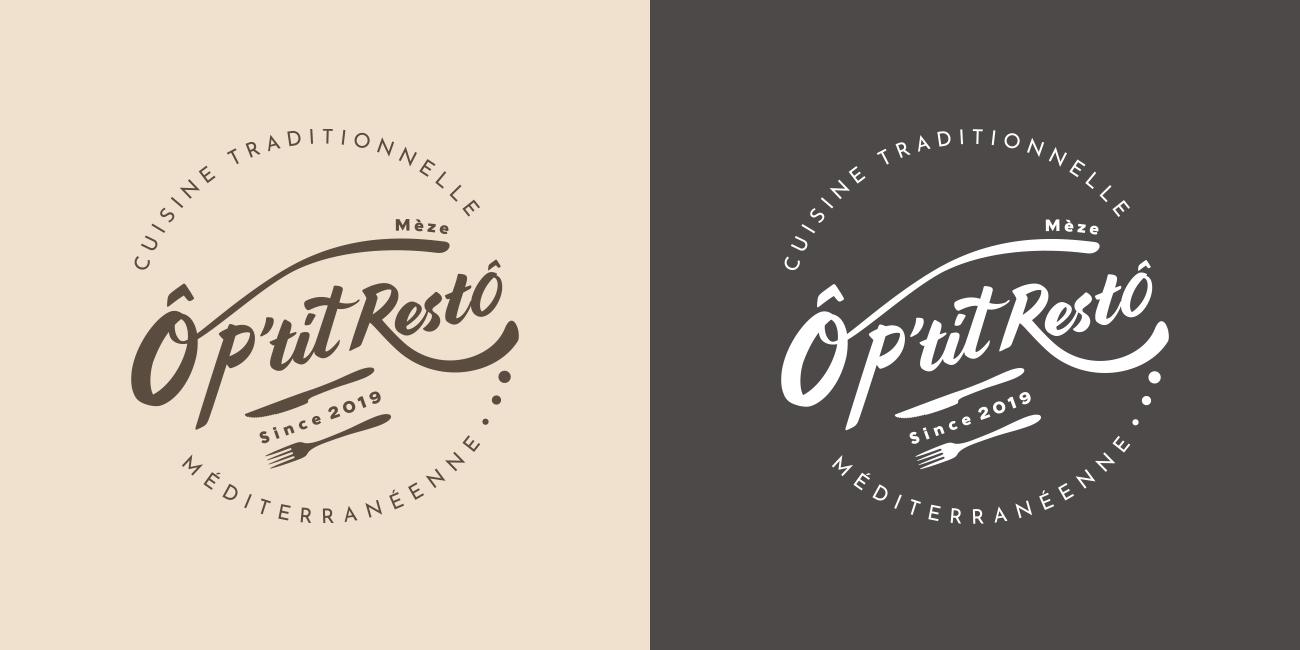 O P'tit Resto Logo design