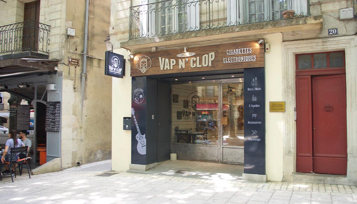 店舗外観デザイン Vap n' Clop